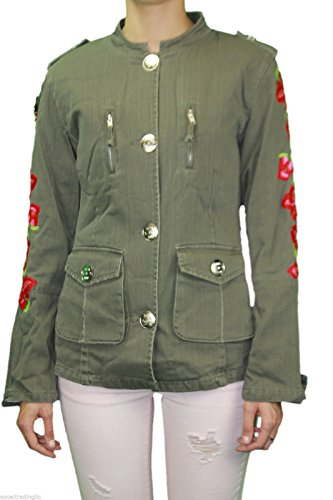 CUSTO BARCELONA Women's Army Woven Embroidered