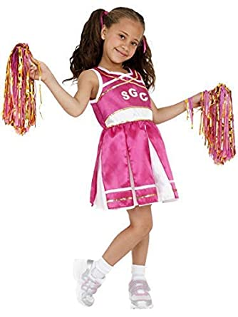 Child HIGH SCHOOL CHEERLEADER Musical Fancy Dress Costume Book Week Day Girls TV