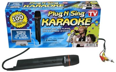 Emerson Karaoke Plug 'N' Sing Karaoke w/100 So (Emerson Karaoke Converter)
