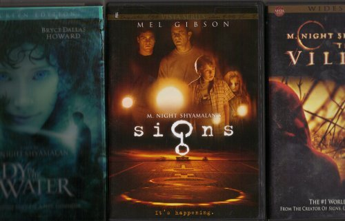 Signs, the Village , Lady in the Water : M. Night Shyamalan 3 Pack Collection