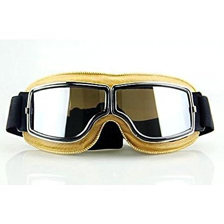LEAGUE&CO mascaras cafe racer  Retro Vintage Gafas de Protección