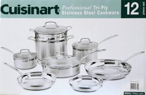 Cuisinart Professional Tri-Ply Stainless Steel Cookware