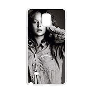 D-PAFD Customized Print Jennifer Lawrence Hard Skin Case Compatible For Samsung Galaxy Note 4