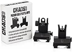 Chaos Ready | Flip Up Iron Sights - Spring Loaded Low Profile Back up Ironsights...