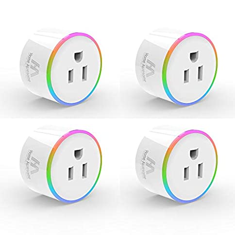 Home Awesome Breathing Light Smart Plug Mini, No Hub Required, Wi-Fi, Compatible with Amazon Alexa, Control your Devices (4 Pack) - 413eYW8N4wL - Home Awesome Breathing Light Smart Plug Mini, No Hub Required, Wi-Fi, Compatible with Amazon Alexa, Control your Devices (4 Pack)