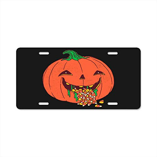 (YEX Abstract License Plate Halloween Hangover High Gloss Aluminum Novelty Car Licence Plate Covers Auto Tag Holder 12