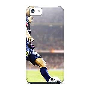 Premium Durable Barcelona Football Club Fashion Tpu Iphone 5c Protective Case Cover