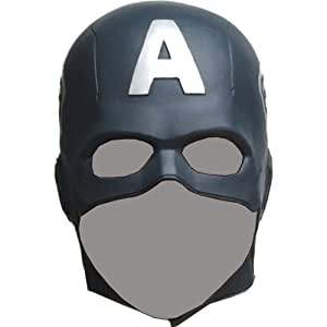 CAPTAIN AMERICA The Avengers Mask Rubber Party Mask Full face Head Costume