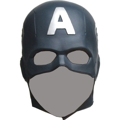 amazoncom captain america the avengers mask rubber party mask full face head costume toys games