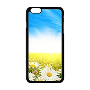Personalized Creative Cell Phone Case For iPhone 6 Plus,clouds blue sky and white flowers field by Maris's Diaryby Maris's Diary