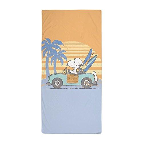 CafePress Snoopy Hits The Beach Large Beach Towel, Soft 30