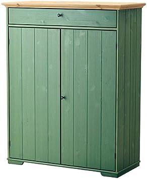 Ikea Hurdal - El gabinete de Lino, Verde - 109x50x137 cm: Amazon ...