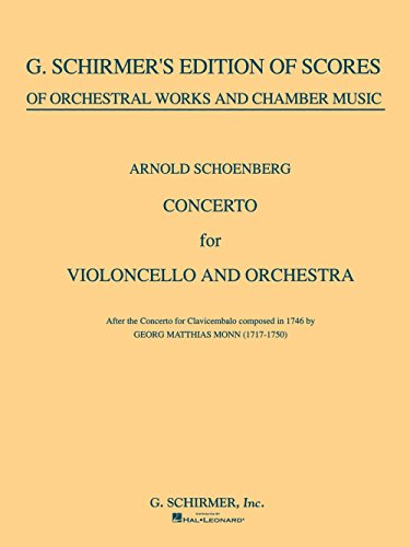 G. Schirmer Concerto for Cello & Orchestra (Full Score) String Solo Series Composed by Arnold - G Schirmer Cello