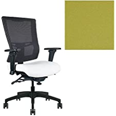 Office Master Affirm Collection AF588 Ergonomic Executive High Back Chair - JR-69 Armrests - Black Mesh Back - Grade 1 Fabric - Celestial Europa Green 1208 PLUS Free Ergonomics eBook