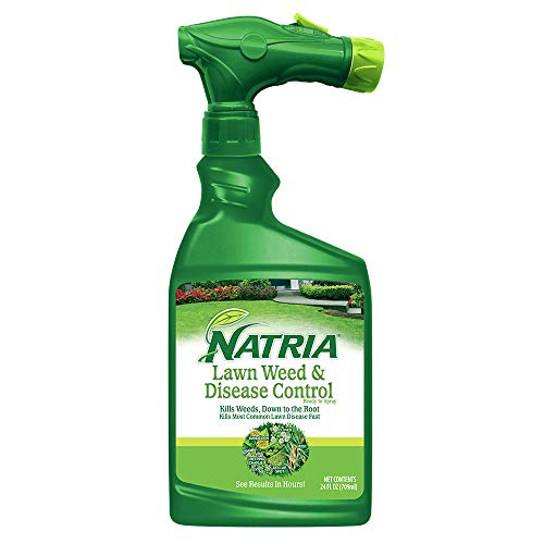 Natria 100532522 Bayer Lawn Weed & Disease Ready to Spray, 24 oz Weed and Disease Control, 24-Ounce, White (Best Weed Killer To Kill Creeping Charlie)