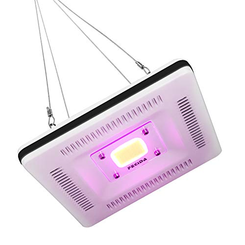 Ultra-Thin No Noise LED Grow Light Fixture, Nano Waterproof IP67, Full Spectrum COB 50W Grow Light Mount, 300W Halogen Bulb Equivalent, Growing for Aquarium, Hydro, Indoor Plants, Tomato, Succulents