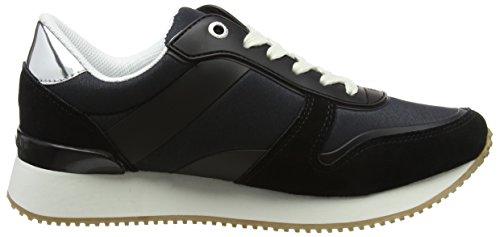 Schwarz Tommy Material Lifestyle 990 Hilfiger Black Damen Sneaker Mixed 6YtA6wr
