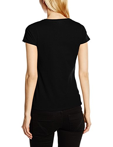 Fruit of the Loom Ss129m, Camiseta Para Mujer Negro