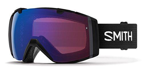 Smith Optics Adult I/O Snowmobile Goggles Black / ChromaPop Photochromic Rose Flash by Smith Optics