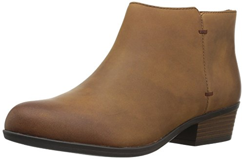 Clarks Women's Addiy Zora Ankle Bootie,Tan Leather,7 W US by CLARKS