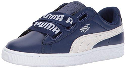 Wn Blue Sneaker puma Women's Heart White Depths Puma Basket De qFHwIxY
