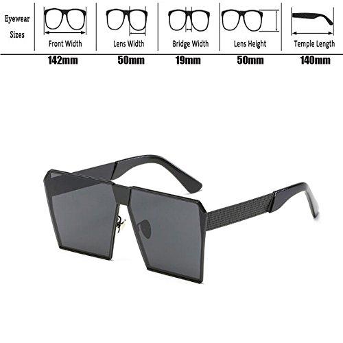 Vendimia de Deylaying Metal Mujer Claro Conducción sol Gafas sol Mujer de y Gafas o Gafas Hombre UV400 Hombre Cuadrado Marco Pescar Oro 4vI0n