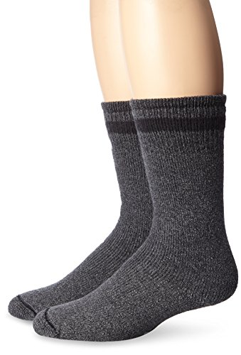Wigwam Men's Super Boot 2 Pack Sock,Charcoal,Large /shoe Size:Men's 9-12,Women's 10-13