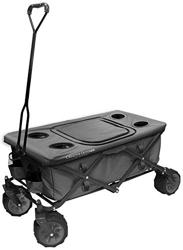 creative-outdoor-distributor-all-terrain-folding-wagon-grey-top-included-multipurpose-cart-for-garde