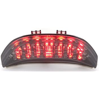 integrated sequential led tail lights smoke lens for 2003-2006 honda  cbr-600rr / 2004-2007 cbr-1000rr