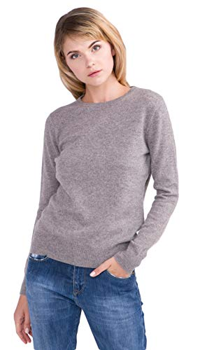 cashmere 4 U Women's 100% Cashmere Crewneck Sweater Pullover- Basic