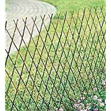 """Willow Expandable Lattice Fence Panel, 72""""W X 24""""H Set of 2"""