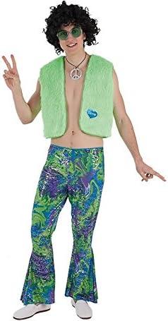 Creaciones Llopis Disfraz de Hippie Verde para Hombre: Amazon.es ...