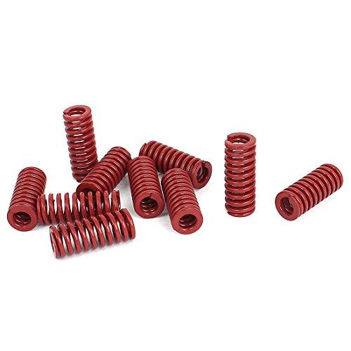 12mm OD 30mm Long Medium Load Compression Mold Die Spring Red 10pcs