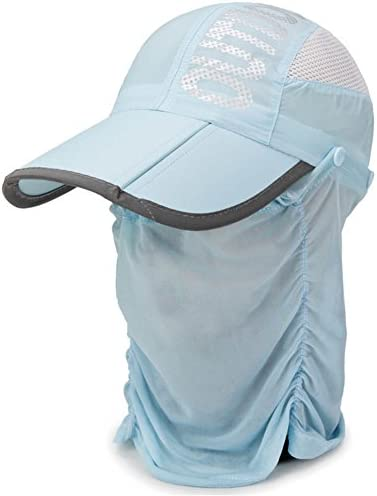 LERTREE Outdoor Sport Hiking Camping Visor Hat UV Protection Face Neck Cover Fishing Hat Cap