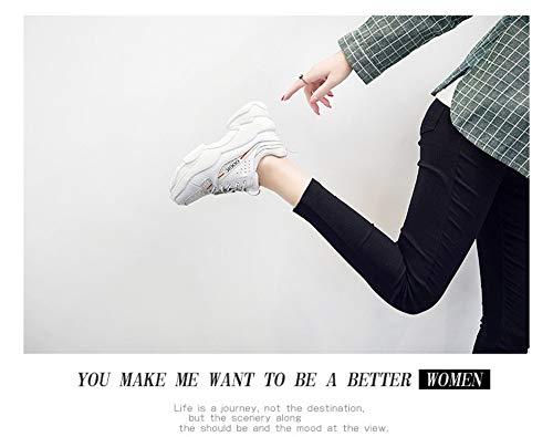 6 De Zapato Salvaje Mujer Zhijinli Zapatos 5size Fondo Tamaño Calzado 6 Aumentar Grueso Casual Blanco Deportivo t7S70