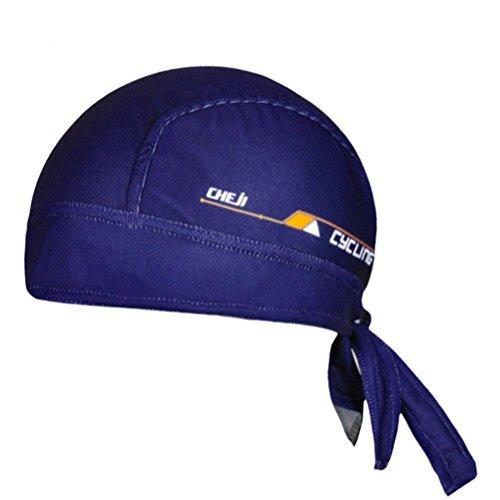 abe3b97abc8 Galleon - Ksweet Cycling Dew Rag For Men Skull Caps Sweat Beanie Cool Head  Wrap Doo Rag Summer Sport Helmet (Navy Blue)
