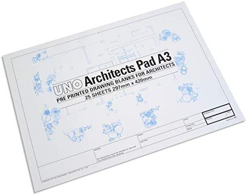 A1 Tube UNO Architects Drawing Blanks A2 Pad Choose from A3 Pad