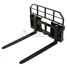 "48"" Pallet Fork Attachment 5500lb Capacity Tractor Forks skid steer quick attach"