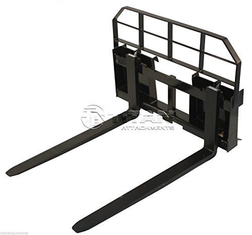 48'' Pallet Fork Attachment 5500lb Capacity Heavy Duty Tractor Forks Skid Steer Quick tach by Titan Attachments