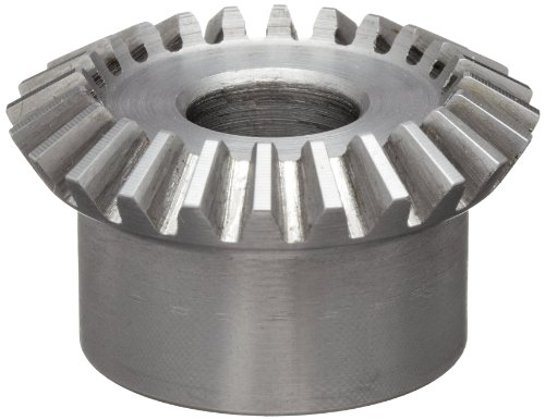 Boston Gear L146Y-G Bevel Gear, 1.5:1 Ratio, 0.500'' Bore, 16 Pitch, 24 Teeth, 20 Degree Pressure Angle, Straight Bevel, Steel by Boston Gear