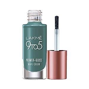 Lakmé 9 to 5 Primer + Gloss Nail Colour, Teal Deal, 6 ml