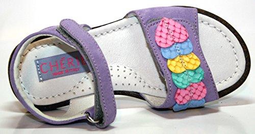 Cherie enfant chaussures pour fille, sandales 764 violet/rose/mauve/jaune/bleu/vert-taille 25 (sans emballage)