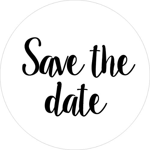 """80-pack, 2"""" white save the date stickers, save the date labels, envelope seals Date Envelope"""