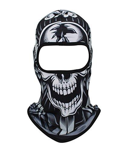GANWAY Cycling Motorcycle Cap Ski Headgear Paintball Airsoft Skull Mask Balaclava Hat (C11)
