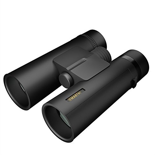 10x42 Compact Binoculars for Adults and Kids, Waterproof/Fogproof High Powered Binocular with BAK4 Prism FMC Lens Great for Bird Watching Hunting Concerts & Outdoor Sports - Golden State Warriors Heart