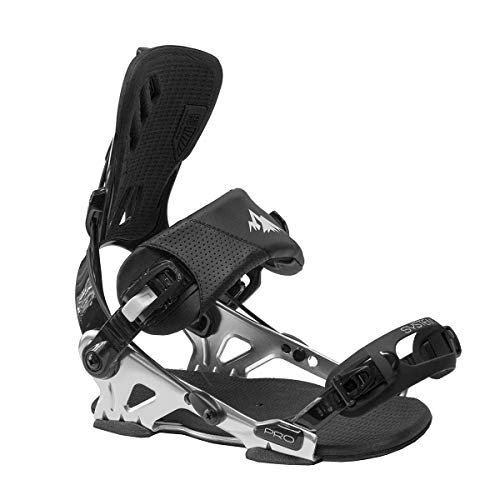 System Pro Freeride Men's Rear Entry Step in Style Snowboard Bindings 2020