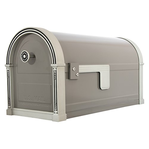 Gibraltar Mailboxes High Grove Large Capacity Galvanized Steel Light Bronze, Post-Mount Mailbox, HM16NL01