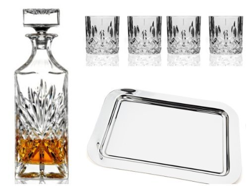 SHANNON BAR SET - SHANNON CRYSTAL BAR 6 PIECE SET WITH SILVER - Set Bar Crystal