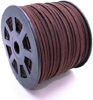スエードレザーコード 幅3mm ダークブラウン 90mx10個セット su-7x10