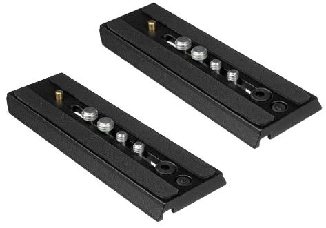Extra Quick Release Plate - Set of 2 Replacement Quick Release Plate for The Manfrotto MVH502AH, 504HD, MVK502AM, MVH502A,546BK-1, 504HD,546BK, 504HD,535K, 504HD,536K, 504HD,546GBK ...